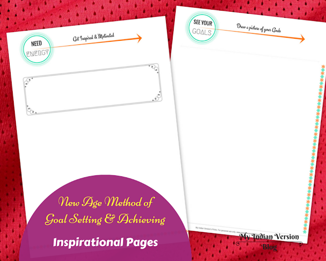 Goal setting and achieving - Inspirational Printables
