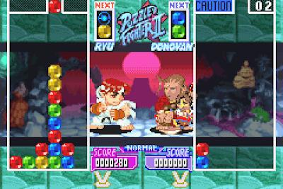 【GBA】超級街頭快打方塊2+密技,Q版角色方塊對戰遊戲!