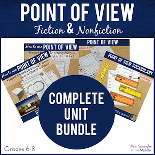 Here's a complete unit for Middle School students on how to USE point of view to analyze fiction AND nonfiction text with everything the teacher needs to Teach, Reteach & Enrich based on R.CCR.6/RI.6/RL.6 that is already fully differentiated!