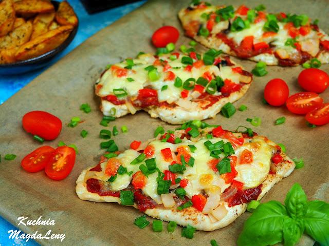 Pieczone filety jak pizza