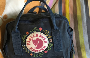 How to: upcycle your backpack with cross stitch embroidery