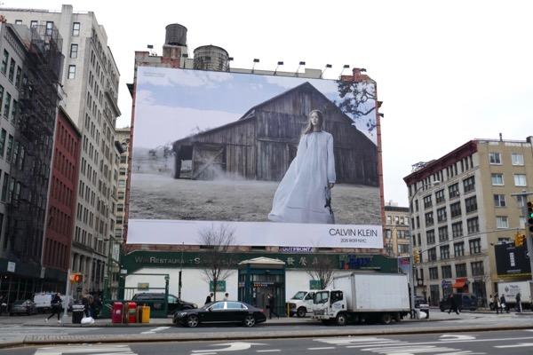 Calvin Klein Spring 2018 billboard Houston st NYC