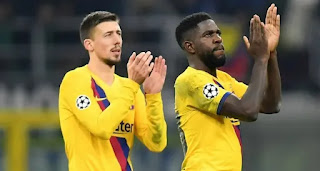 Koeman comment on Lenglet-Umtiti competition for starting spot.