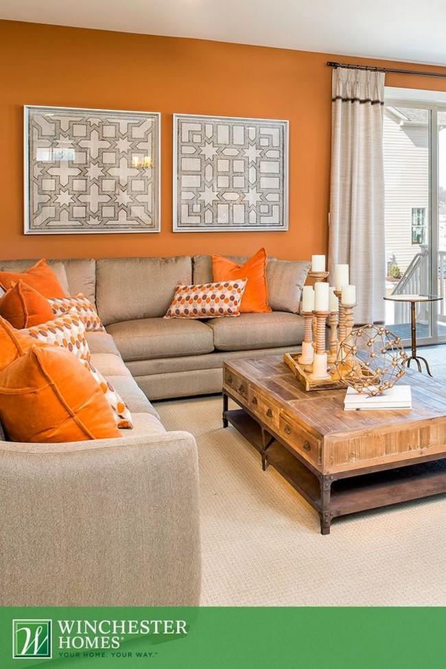 10 fotos de decoraci n de salas en naranja - Decoracion naranja ...