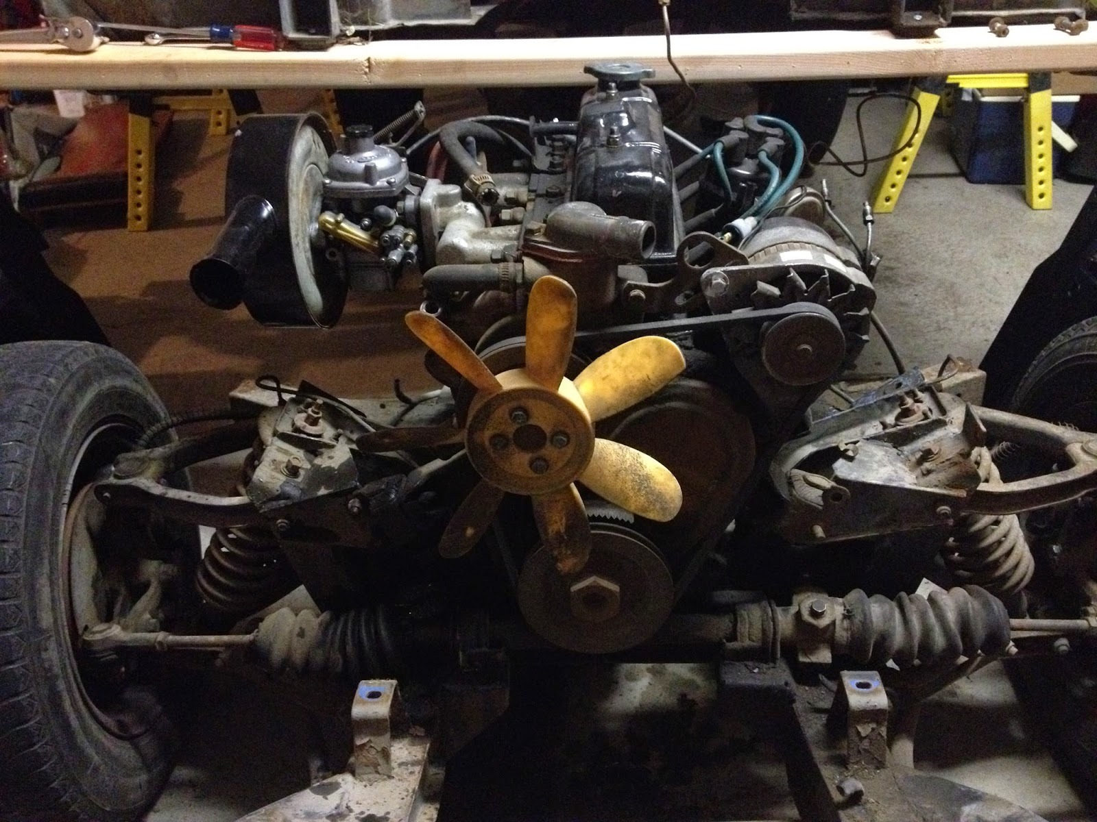 Preparing For Enginegearbox Removal 1973 Triumph Spitfire 1500