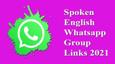 Spoken English Whatsapp Group Links 2021