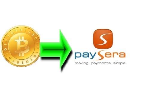 إشحن حسابك على paysera عن طريق البيتكوين بكل سهولة وبأقل رسوم