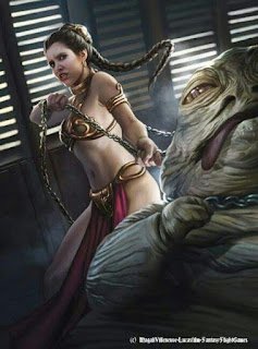 Princess Leia Choking Out Jabba The Hutt