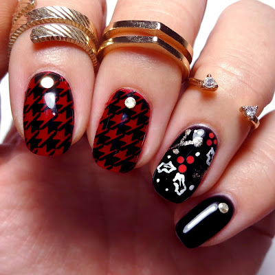 Houndstooth Holiday Nails