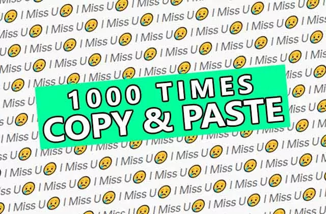I miss you 10,000 times copy and paste with sad emoji to tell him your feeling through i miss u stylish text art design msg.