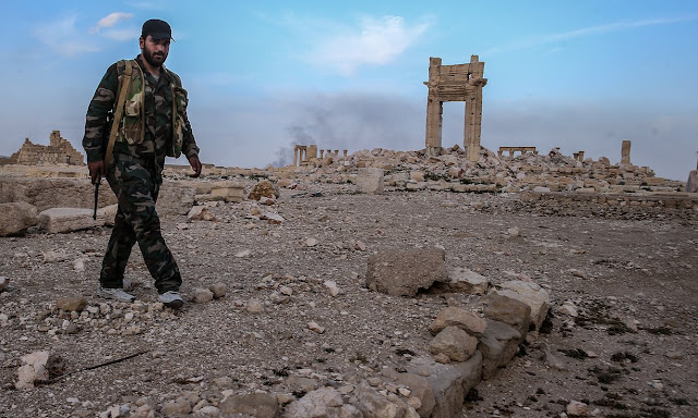 German archaeologist accuses Syrian regime troops of looting Palmyra