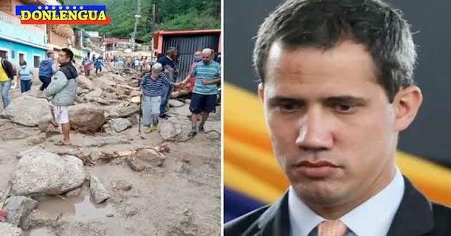 Juan Guaidó muy perturbado con el desastre provocado por las lluvias en Mérida