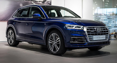 New Audi Q5 SUV Blue Hd Image