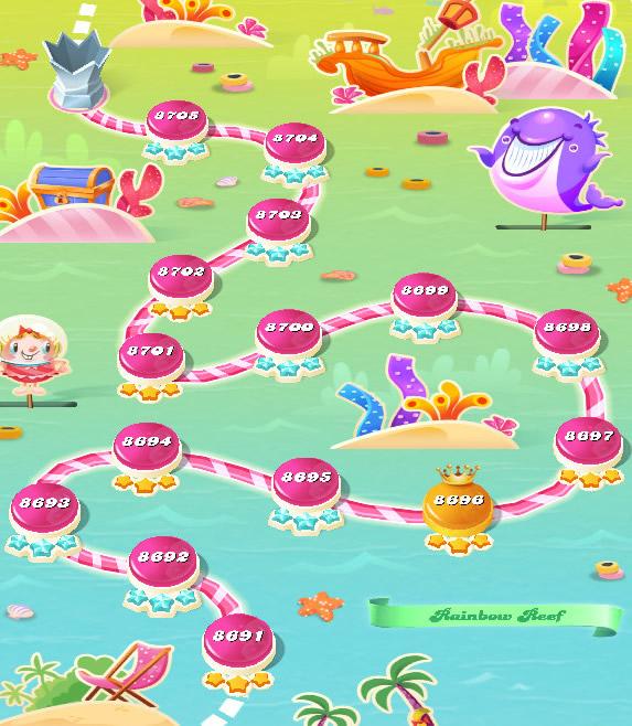 Candy Crush Saga level 8691-8705