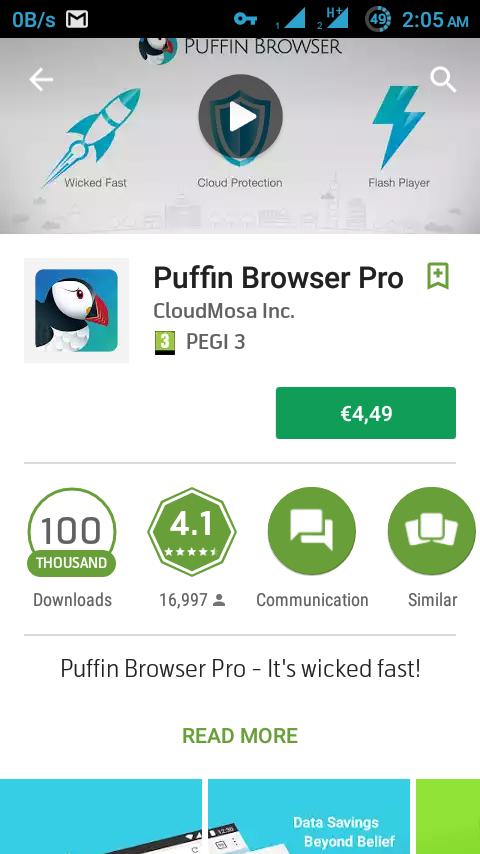 নিয়ে নিন Puffin Browser Pro 4 49$ ডলারের Paid Android