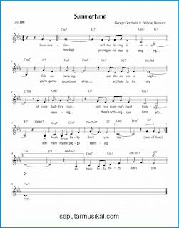 chord summertime lagu jazz standar