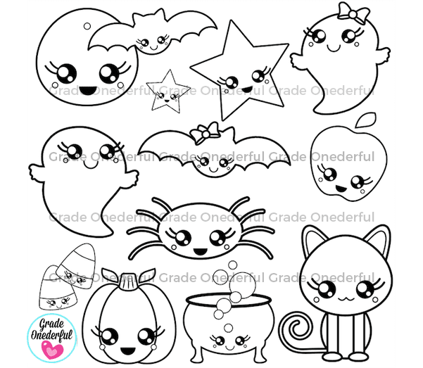 Kawaii Halloween Clipart