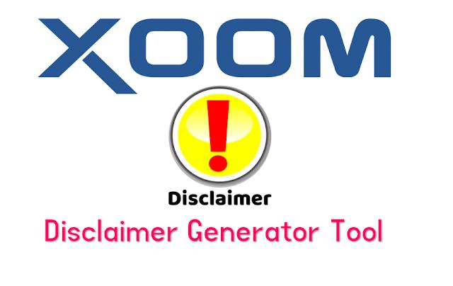 Disclaimer Generator For Blogger Online