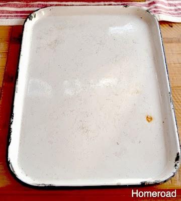 Enamelware Tray Memo Board