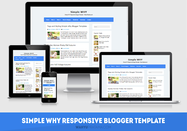 Simple WHY Responsive Blogger Template