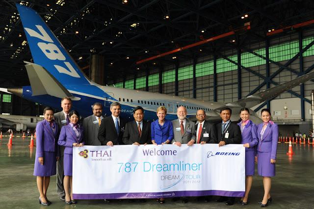Thai Airways Receives and Welcoming Boeing 787-8 Dreamliner