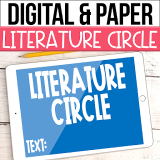 Literature Circles are a great way for students to take charge of their learning and improve their 21st Century skills of critical thinking, communication, and collaboration.  Check out this digital literature circle with a freebie! Literature circles are such a versatile resource and can be used with both fiction and informational texts as well as chapter books and articles!  Click here to get yours!