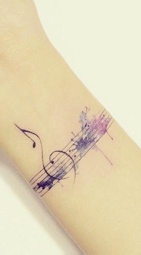 Gentil Musical Tatuagem no Pulso