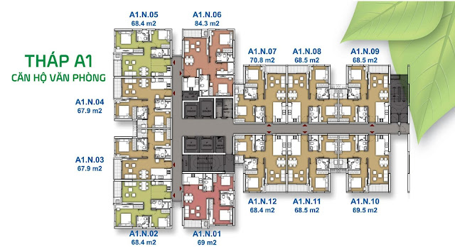 Mặt bằng tầng căn hộ văn phòng The EverRich 3