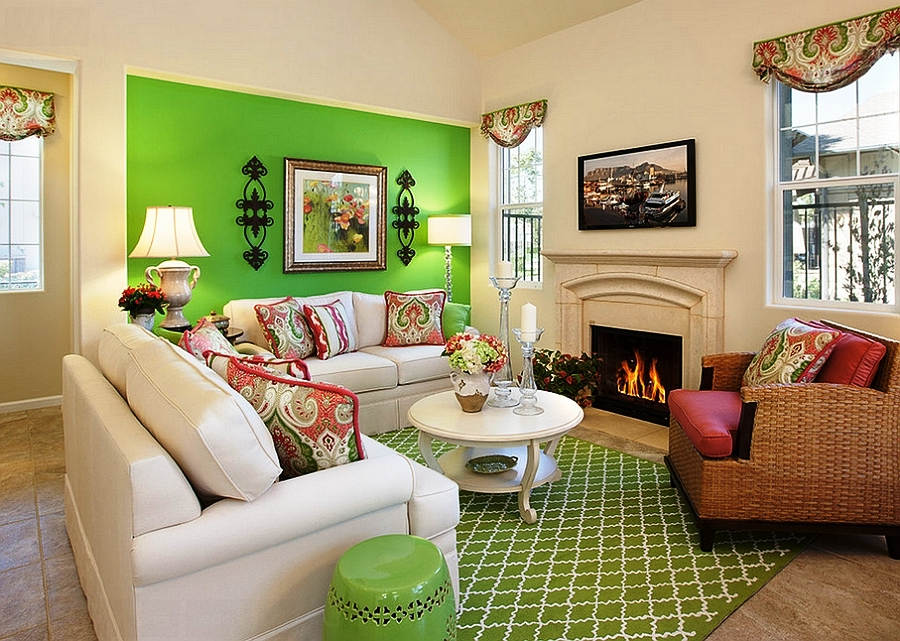 Contoh Kombinasi Warna Cat Ruang Tamu Cantik