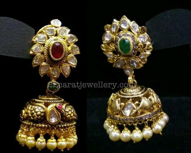 Opulent Nakshi Jhumkas