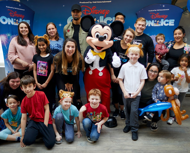Mickey Mouse and Families at Disney on Ice Fit to Dance Workshop