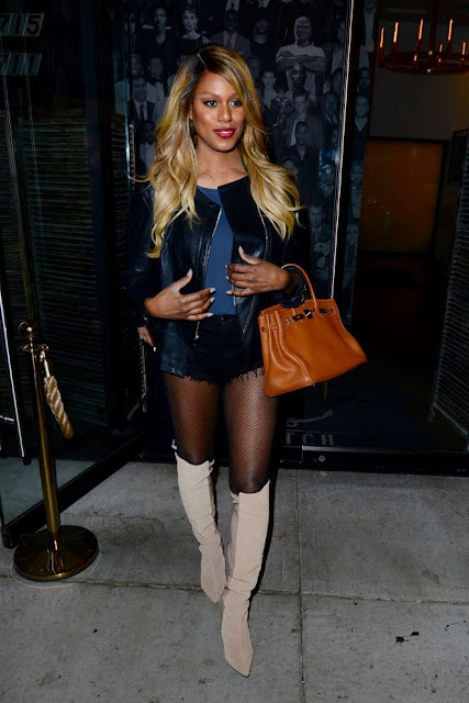 Laverne Cox – Leaving Catch Restaurant in Los Angeles