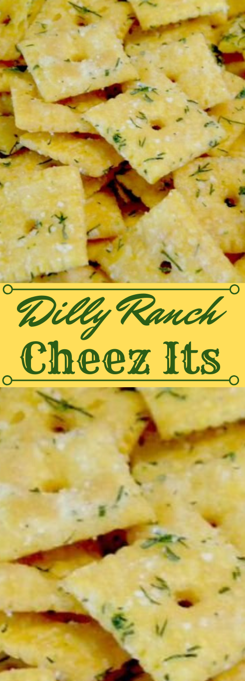 Dilly Ranch Cheez-Its #appetizers #snacks #creamcheese #wontons #lunch