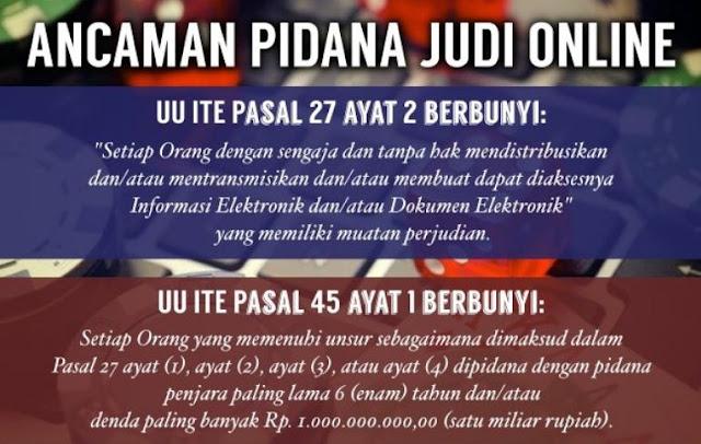 Pidana Judi Online