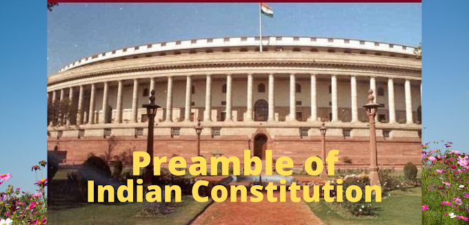 Preamble of the Indian Constitution in English