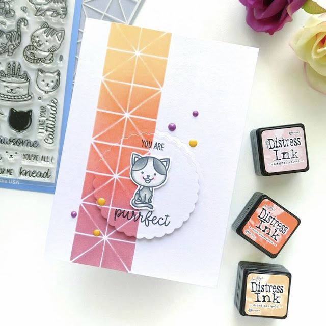 Sunny Studio Stamps: Purrfect Birthday Customer Card by Shana