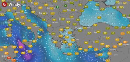 Τοπικές βροχές στα δυτικά, κεντρικά και βόρεια τις θερμές ώρες της ημέρας - Στην υπόλοιπη χώρα νεφώσεις από το απόγευμα