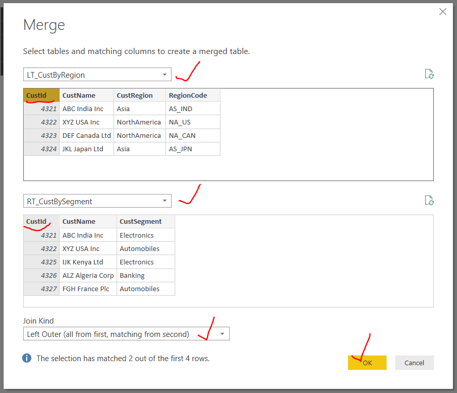 How to merge two queries or tables in power bi sql - How to merge two tables in sql ...