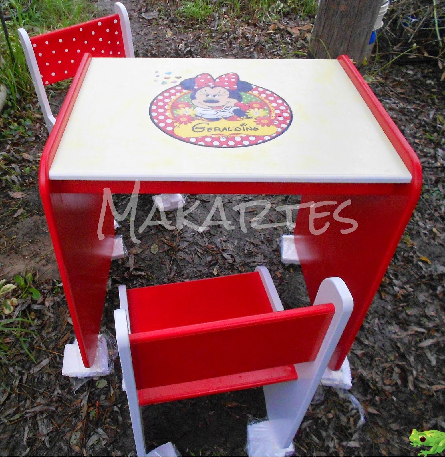 Minnie Table And Chairs Swing Chair Lowest Price Makartes Artesanías Mesa Y Sillas Quotminnie Quot