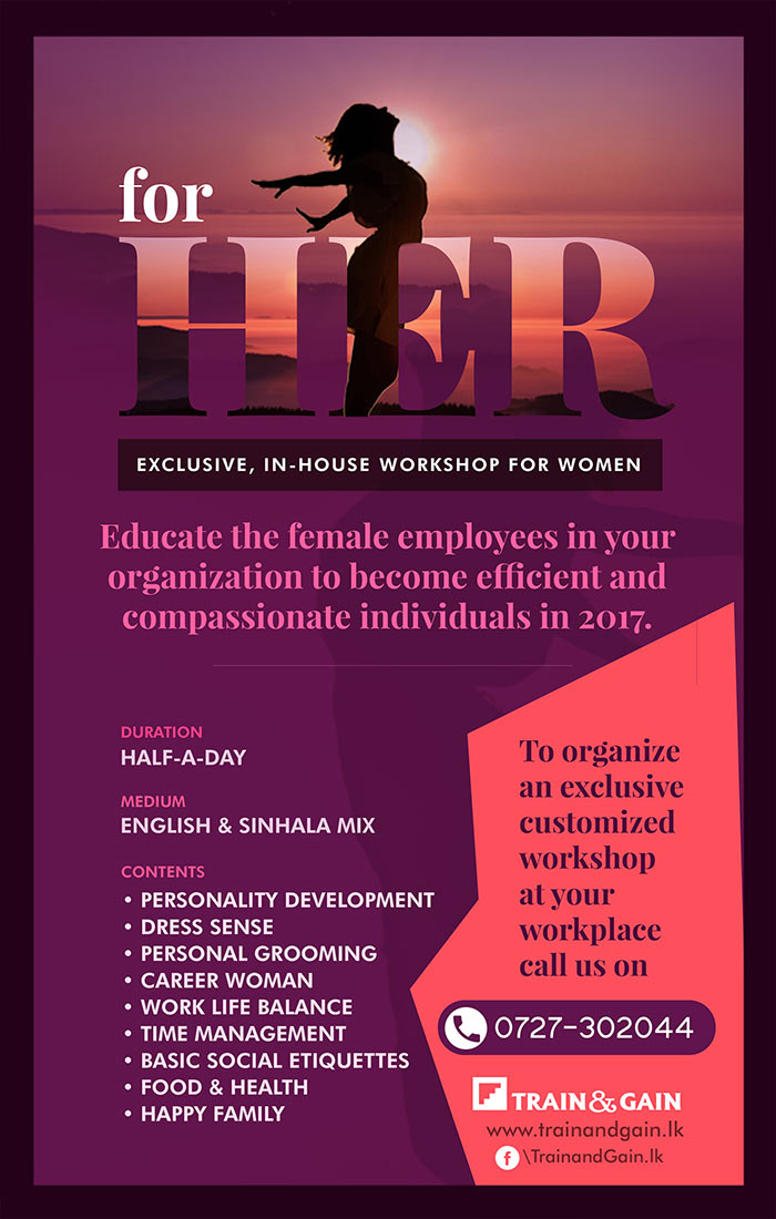 For her | Exclusive in-house workshop for female employees.