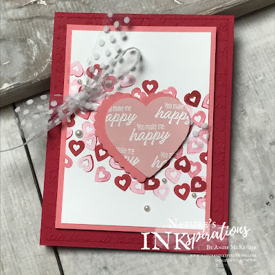 By Angie McKenzie for JOSTTT013 Design Team Inspirations; Click READ or VISIT to go to my blog for details! Featuring the Heartfelt Bundle from the 2020 January-June Mini Catalog and the Meant to Be stamp set from the 2019-20 Annual Catalog; #stampinup #valentinecards #hearts #generationstamping #heartpunchpack  #heartfeltstampset #meanttobestampset #josttt013 #polkadottulleribbon