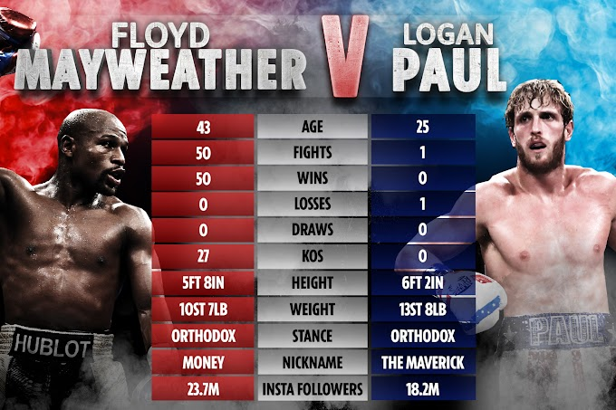 Floyd Mayweather v Logan Paul: Undefeated legend to take on Youtuber in 'exhibition'