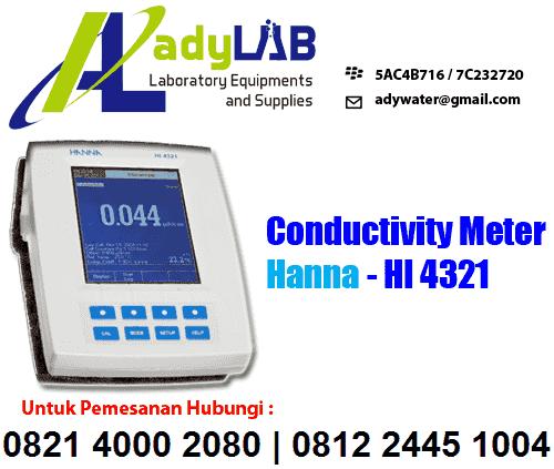 Berapa Harga Conductivity Meter Hanna HI 4321 | ady lab | Harga Konduktivitas Meter HANNA | Jual Konduktiviti Meter | Ady Lab