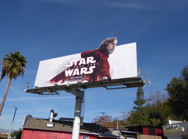 Star Wars Last Jedi Luke billboard