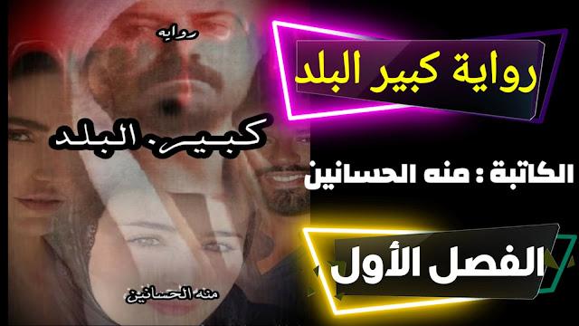 رواية كبير البلد للكاتبه منه الحسانين - الفصل الاول