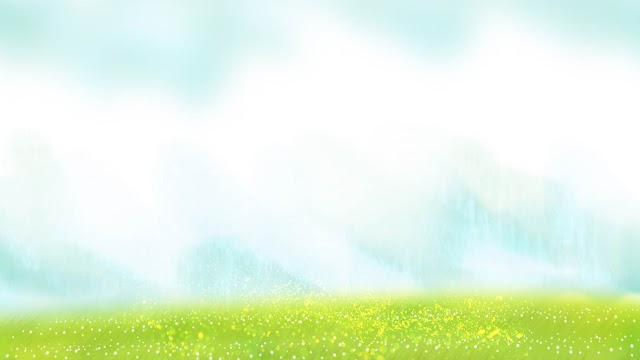 Elegant cartoon green grass PPT backgrounds