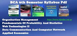 BCA 6th Semester Syllabus Pdf