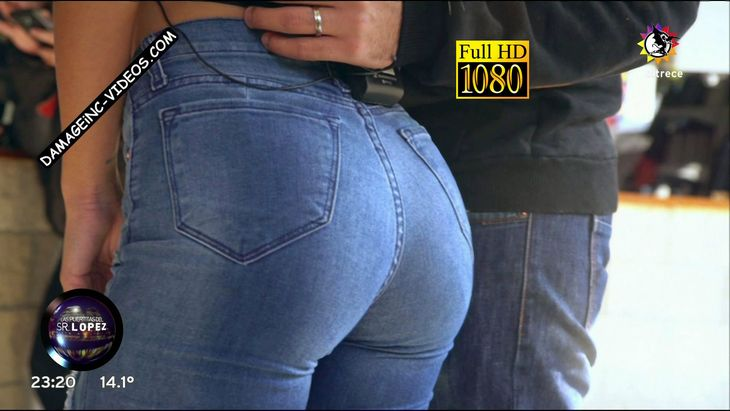 Maria Sol Perez hot ass in tight blue jeans Damageinc Videos HD