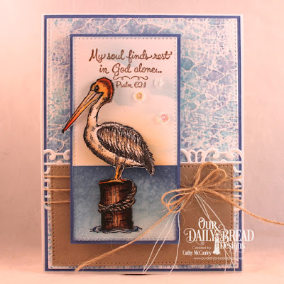 Stamp Sets: By the Sea, Fishing Net Background  Custom Dies: Pierced Rectangles, Pierced Squares (Modified), Flower Lattice Strip