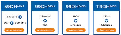 فورفيات اتصالات المغرب ابتداء من 59 درهم في الشهر